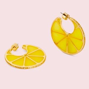 New Kate spade tutti fruity lemon hoops